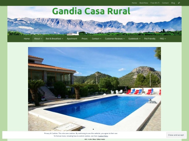 Screenshot of www.gandiacasarural.com