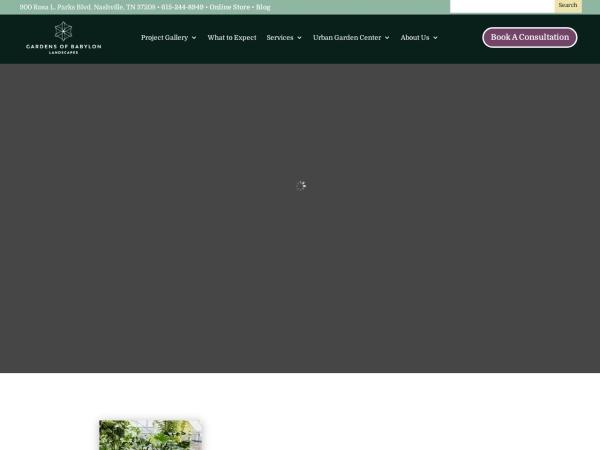 Screenshot of www.gardensofbabylon.com