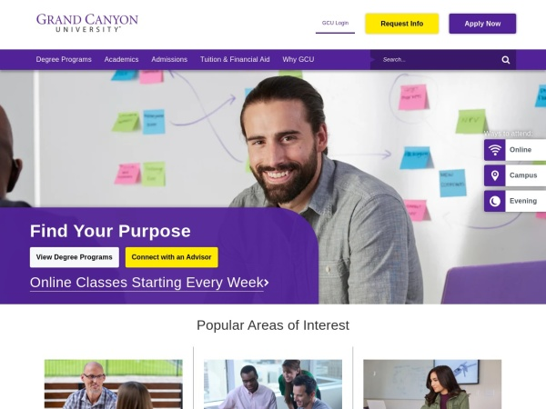 Screenshot of www.gcu.edu