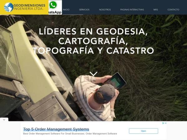 Captura de pantalla de www.geodimensiones.com