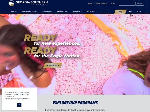 Screenshot of www.georgiasouthern.edu