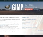 Screenshot of www.gimp.org