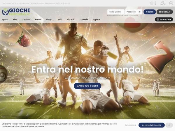 Screenshot of www.giochitelematici.it