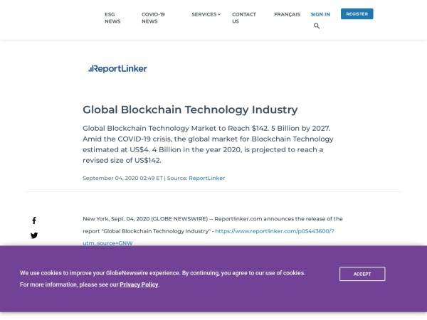 Screenshot of www.globenewswire.com
