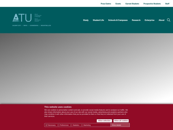 Screenshot of www.gmit.ie