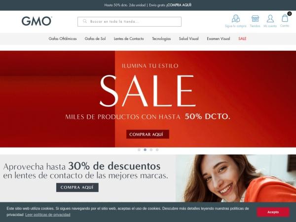 Captura de pantalla de www.gmo.com.co