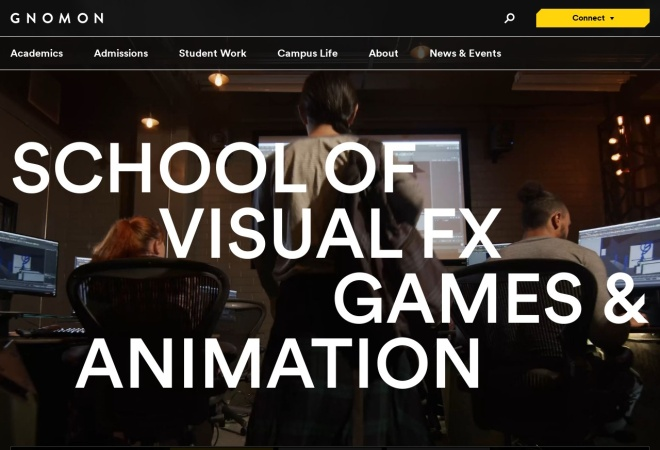 Screenshot of www.gnomon.edu