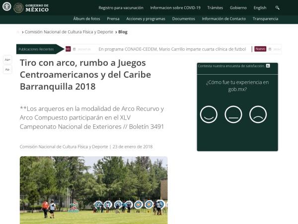 Captura de pantalla de www.gob.mx