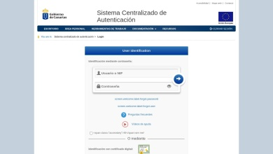 User identification - CAS – Gobierno de Canarias