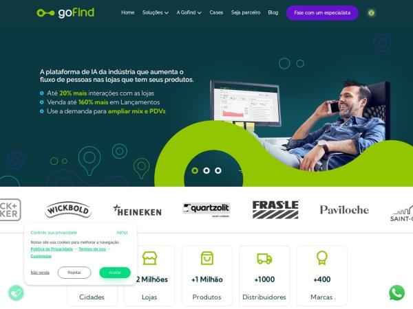Screenshot of www.gofind.online