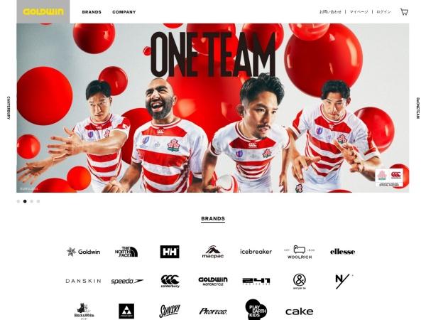 Screenshot of www.goldwin.co.jp