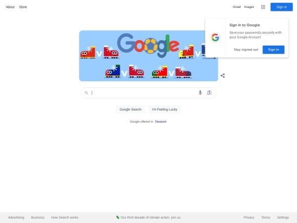 Captura de pantalla de www.google.at