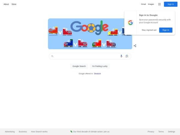 Screenshot of www.google.ch