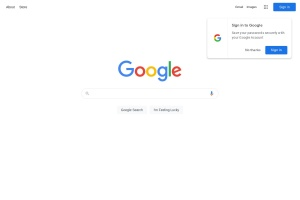 Screenshot of www.google.com