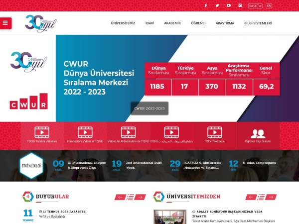 Screenshot of www.gop.edu.tr