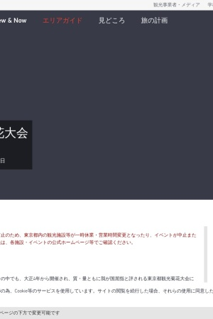Screenshot of www.gotokyo.org