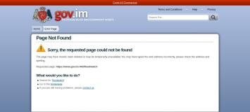 Screenshot of www.gov.im
