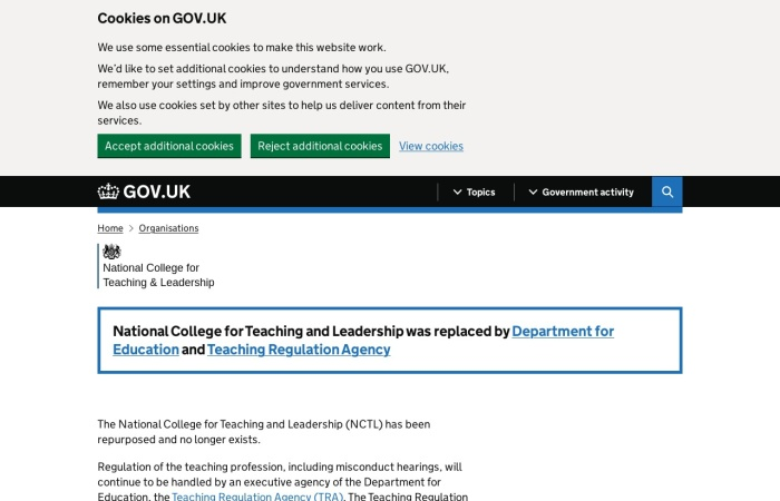 Screenshot of www.gov.uk