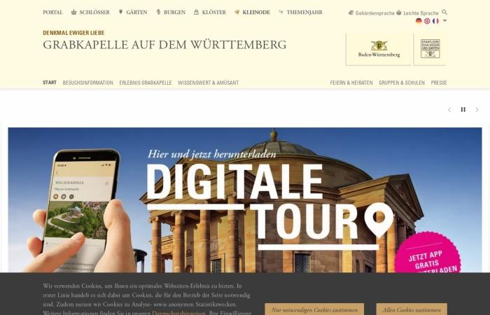 Screenshot von www.grabkapelle-rotenberg.de