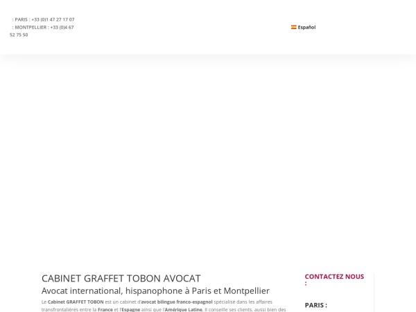 Screenshot of www.graffet-tobon-avocats.com