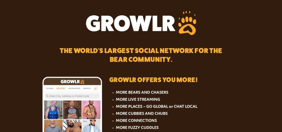 Screenshot of www.growlrapp.com