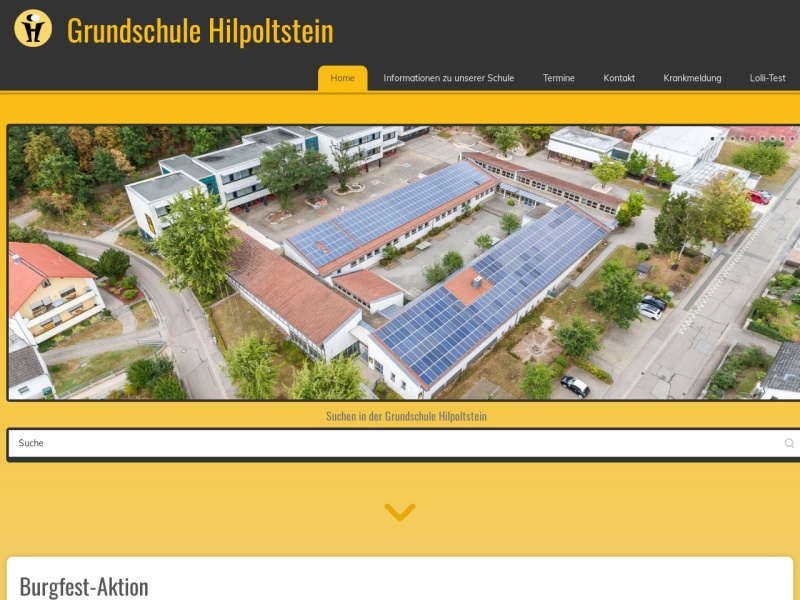 Screenshot of www.grundschule-hilpoltstein.de