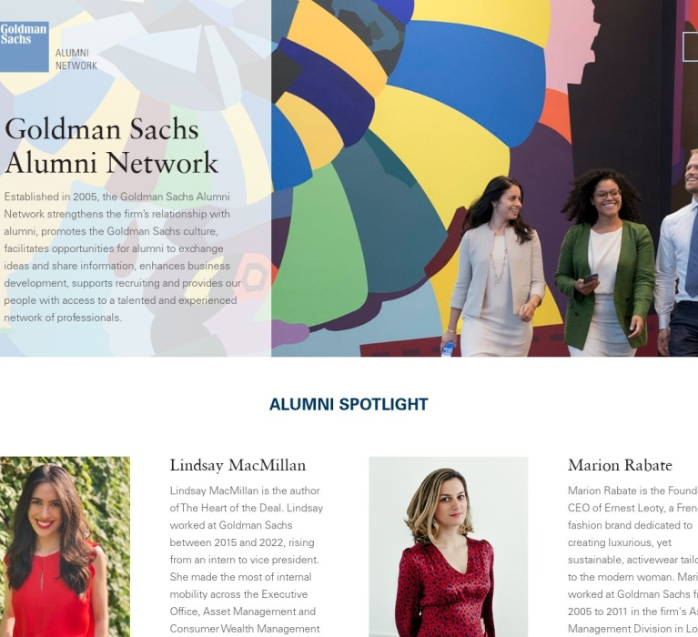 Screenshot of www.gsalumninetwork.com