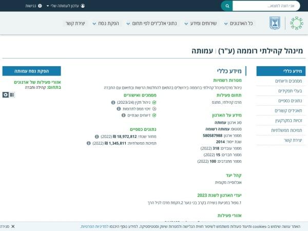Screenshot of www.guidestar.org.il