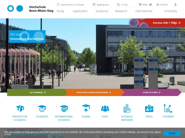 Screenshot of www.h-brs.de