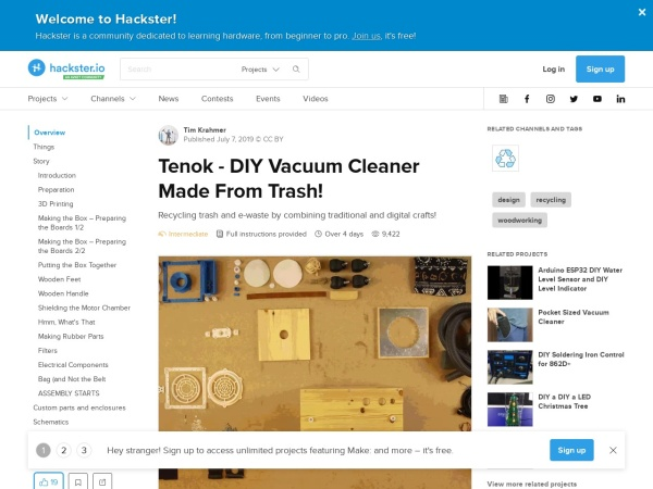 Screenshot of www.hackster.io