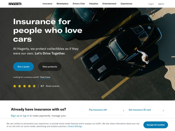 Screenshot of www.hagerty.com