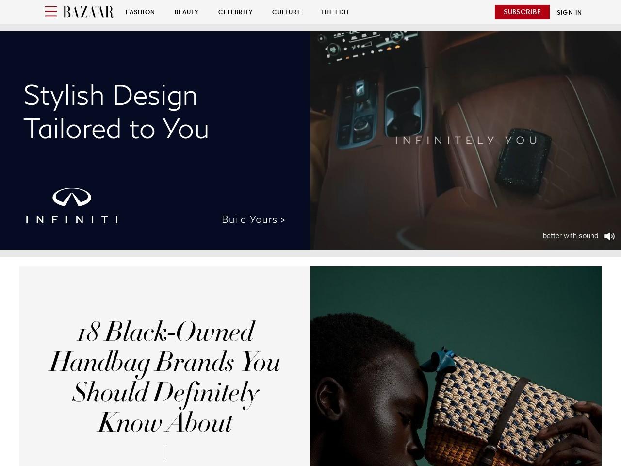 Captura de pantalla de www.harpersbazaar.com