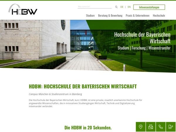Screenshot of www.hdbw-hochschule.de