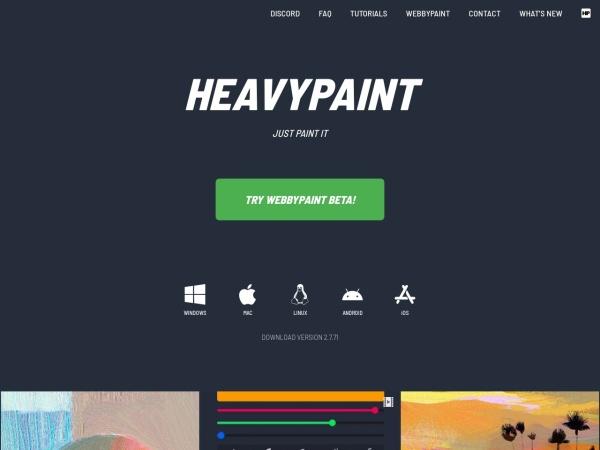 Screenshot of www.heavypaint.com