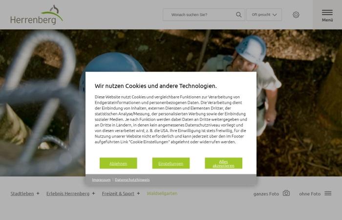 Screenshot von www.herrenberg.de