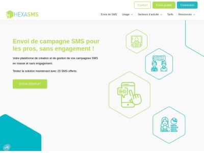HexaSMS : gestion et création de campagnes SMS marketing pour les professionnels