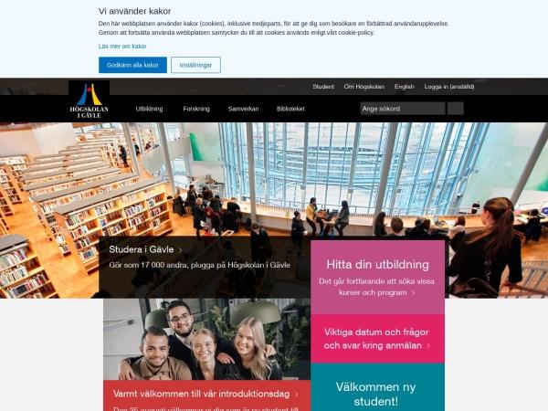 Screenshot of www.hig.se