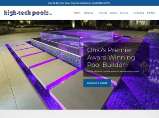 Screenshot of www.hightechpools.com
