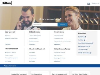 Hilton Customer Support