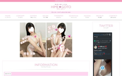 Screenshot of www.hime-goto.com