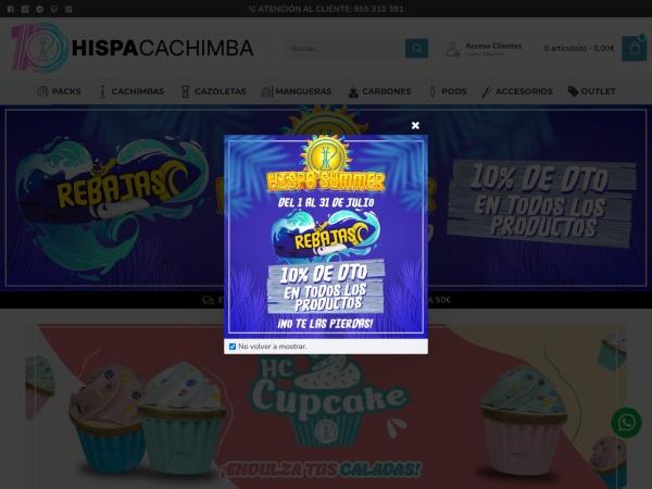 Captura de pantalla de www.hispacachimba.es
