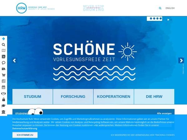 Screenshot of www.hochschule-ruhr-west.de