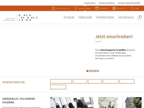 Screenshot of www.hochschule-trier.de