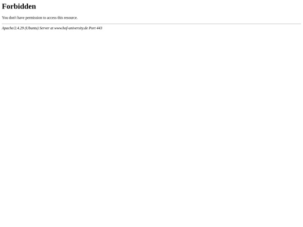 Screenshot of www.hof-university.de