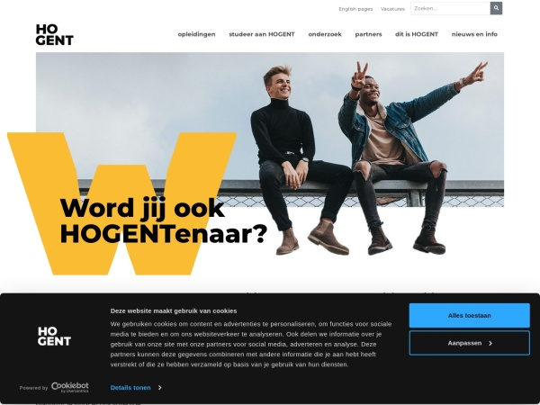 Screenshot of www.hogent.be