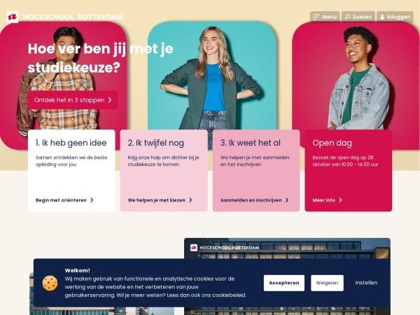 Screenshot of www.hogeschoolrotterdam.nl