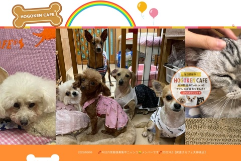 Screenshot of www.hogokencafe.com