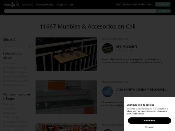 Captura de pantalla de www.homify.com.co