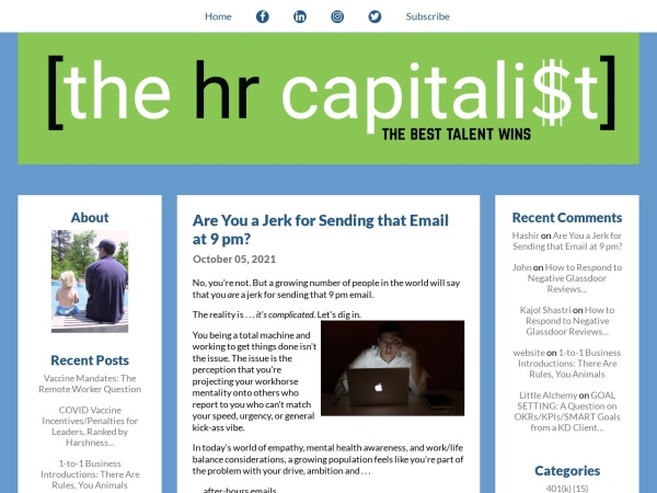 The HR Capitalist Screenshot