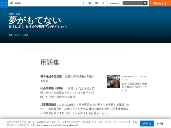 Screenshot of www.hrw.org